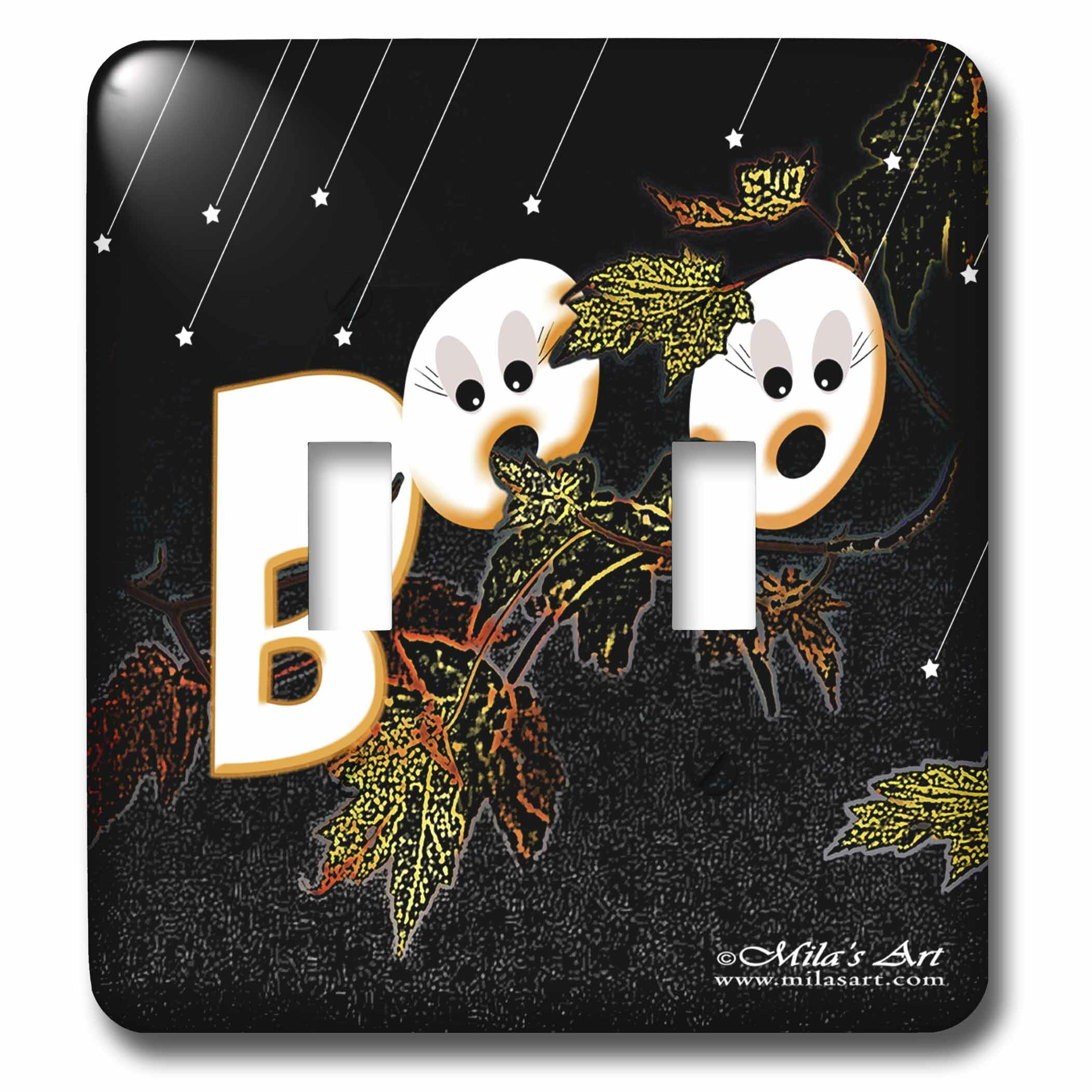3drose Halloween Boo 2 Gang Toggle Light Switch Wall Plate Wayfair