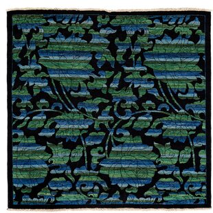 Check Prices One-of-a-Kind Arts and Crafts Hand-Knotted Black Area Rug ByDarya Rugs
