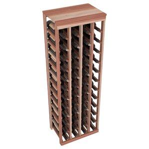 karnes redwood table top 48 bottle floor wine rack