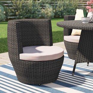 Brayden Studio Martinez Patio Dining Chair with Cushion