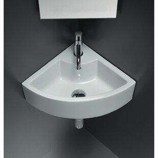 American Imaginations Ceramic Specialty Wall-Mount Bathroom Sink