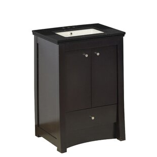 Hardenburgh Drilling Floor Mount 24 Single Bathroom Vanity Set