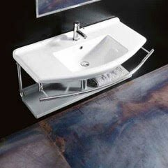 WS Bath Collections Topazio Ceramic Ceramic Rectangular Vessel Bathroom Sink with Overflow
