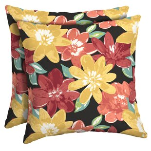 Espana Floral Outdoor Throw Pillow (Set of 2)
