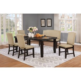 Dutil 6 Piece Solid Wood Dining Set