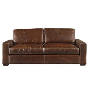 Charmant Dansville Two Seat Full Top Grain Leather Sofa