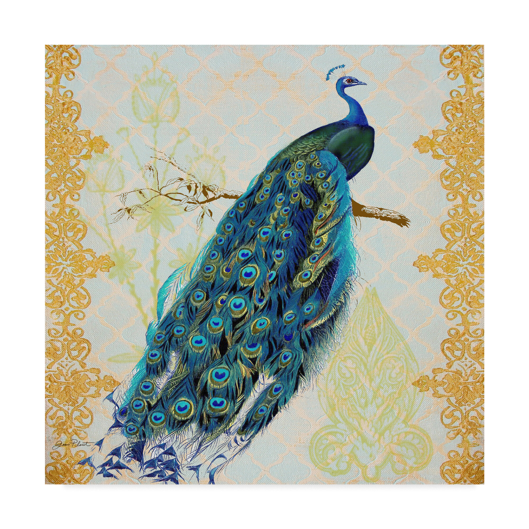 World Menagerie Beautiful Peacock Right Graphic Art Print On Wrapped Canvas Wayfair