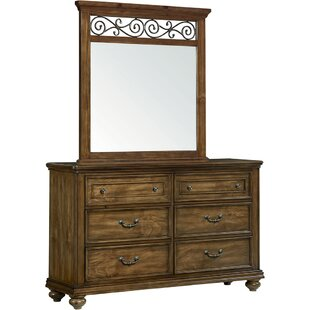 Darby Home Co Troian 6 Drawer Dresser with M..