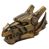 "Steampunk Cyborg Dragon Head Jewellery Box Figurine 9.5"" L Cyber Robot Serpentine Decorative Figure"
