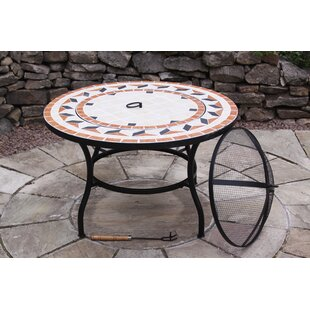 Calenta Steel Charcoal/Wood Burning Fire Pit Table By Gardeco