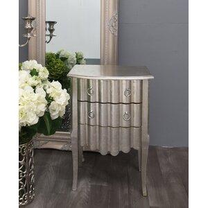 Nachttisch Decorative mit 2 Schubladen