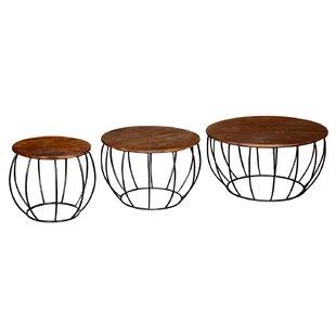 Domenech 3 Piece Coffee Table Set By Mercury Row