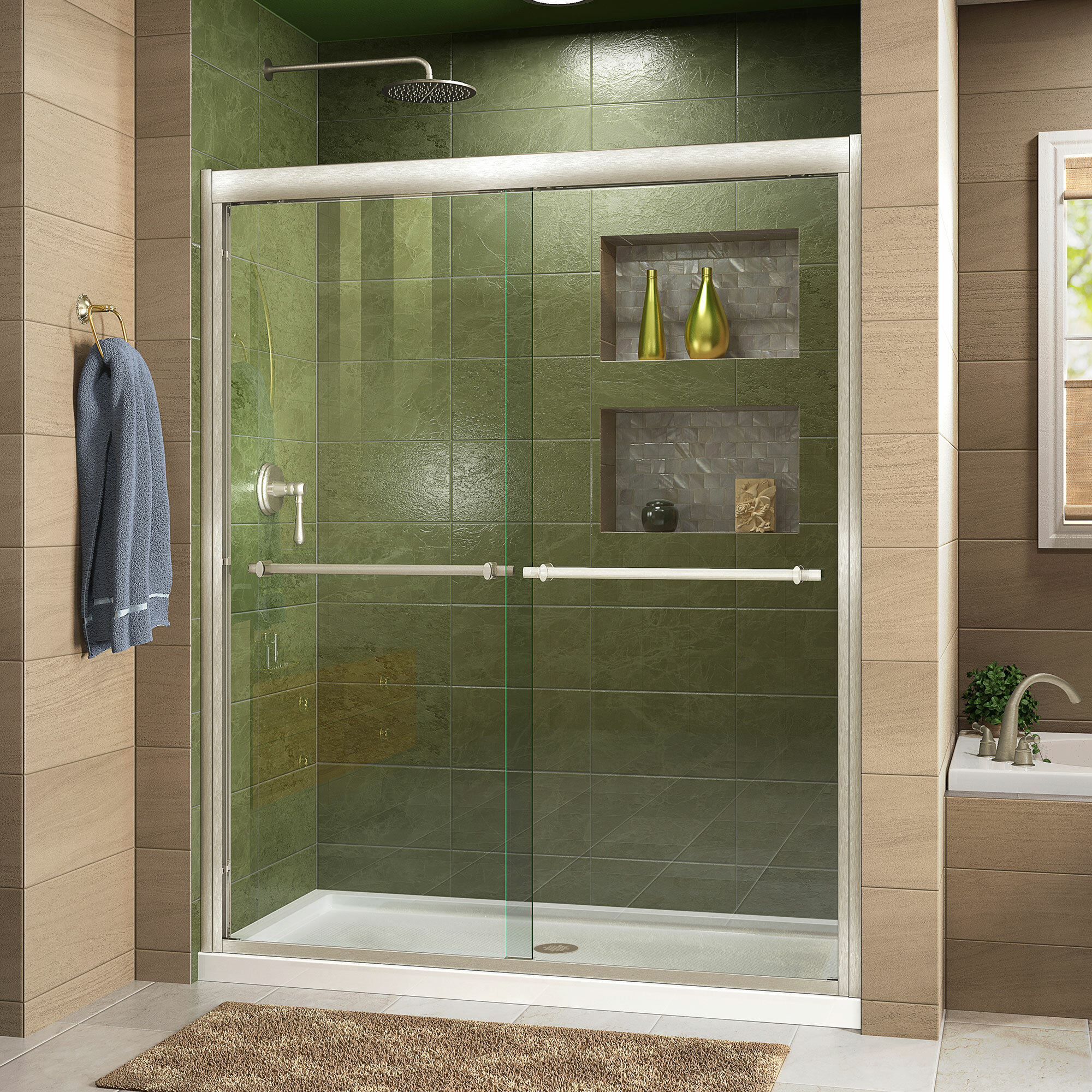 Dreamline Duet 60 X 7475 Bypass Semi Frameless Shower Door Wayfair