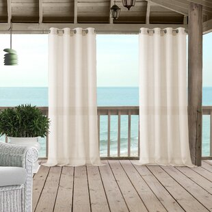 Eastep Solid Sheer Grommet Single Curtain Panel by Rosecliff Heights