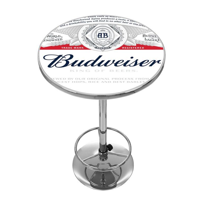 Trademark global budweiser pub table reviews wayfair budweiser pub table watchthetrailerfo