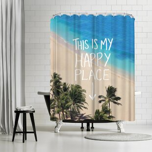 East Urban Home Leah Flores Happy Place Hawaii II Shower Curtain