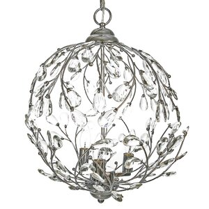 Garden Glam 3-Light Globe Pendant
