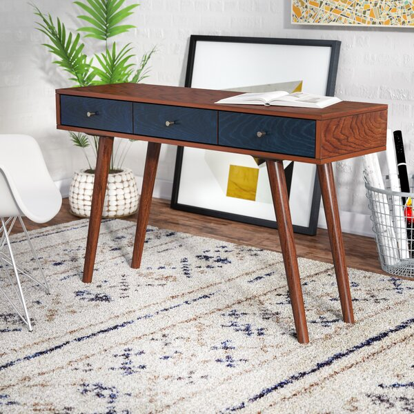 Langley Street Victor 3 Drawer Writing Desk & Reviews by Langley Street