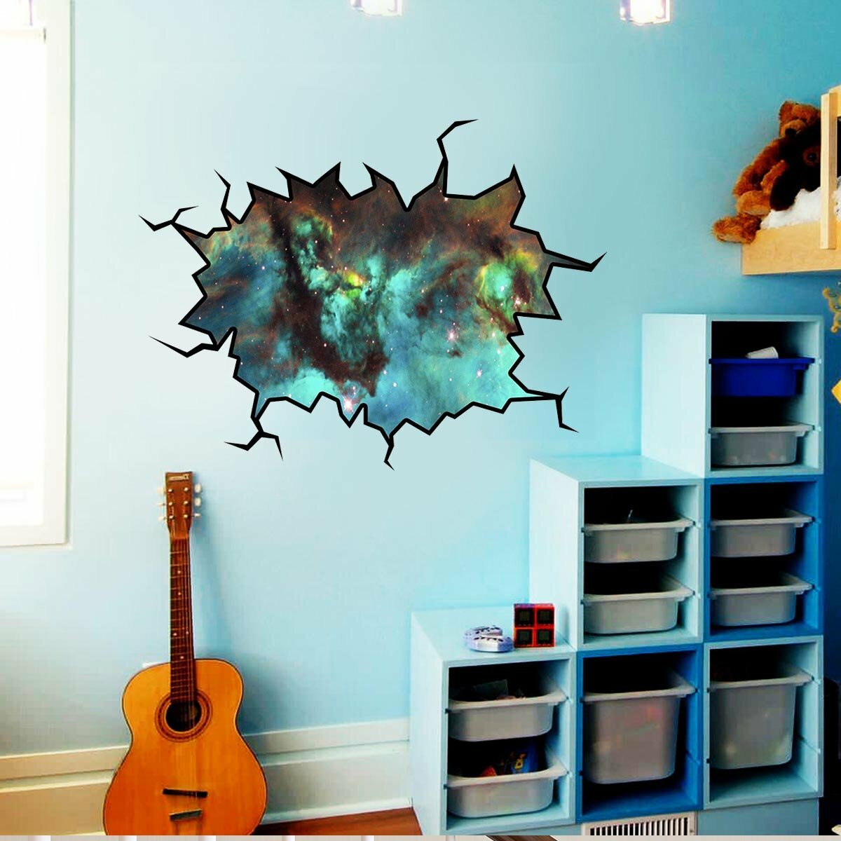 East Urban Home Cosmic Outer Space Cracked Wall Decal Wayfair
