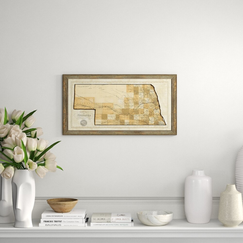 Charlton Home 'Map of Neska' Framed Graphic Art Print   Wayfair on
