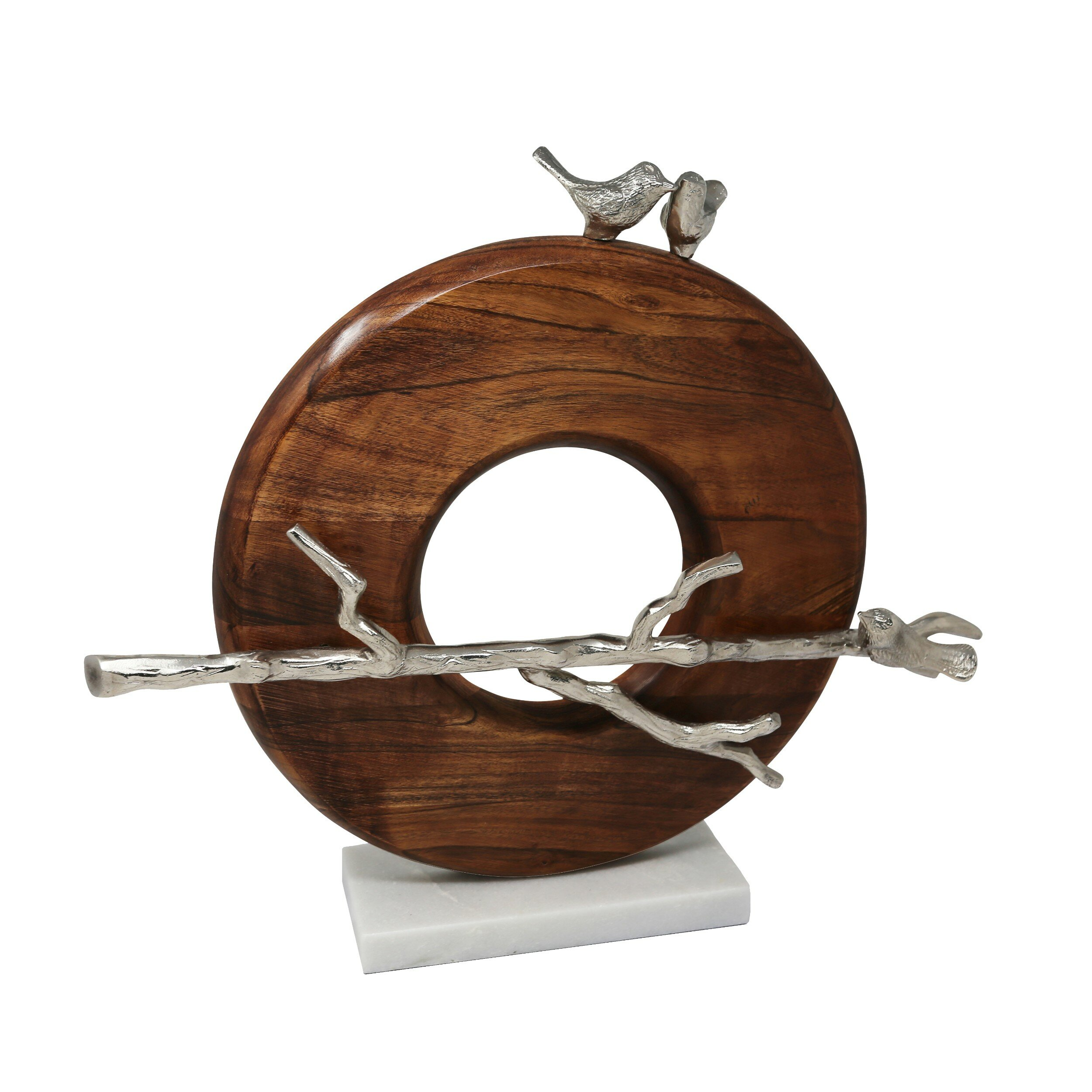 Latitude Run Zowie Wood And Aluminium Sculpture Wayfair