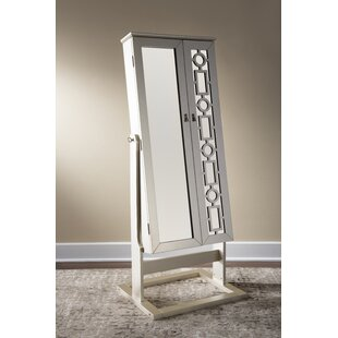 Find Cristobal Cheval Jewelry Armoire with Mirror By Darby Home Co