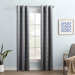 Wayfair Basics Chevron Blackout Single Curtain Panel by Wayfair Basics™