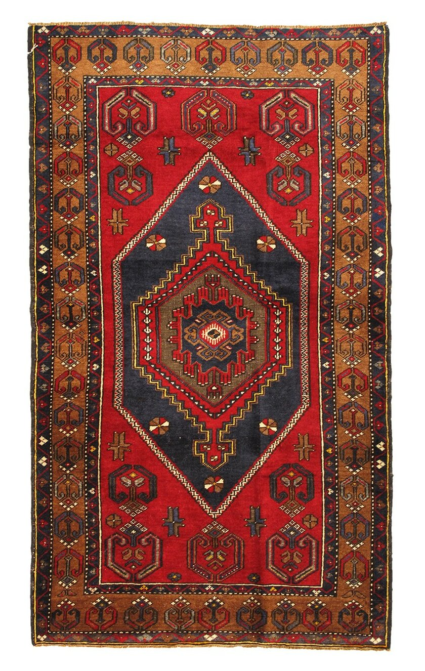 Pasargad One Of A Kind Kilim Hand Knotted 2010s 3 8 X 6 3 Wool Area Rug In Red Wayfair
