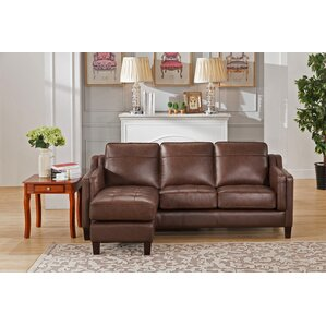 Katherine Leather Reversible Sectional by Red Barrel Studio