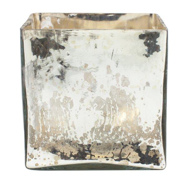 6cbe193ae1e5 Mercer41 Elderen Mercury Glass Cube Vase   Reviews