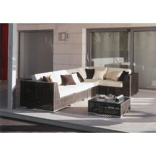 Soho 6 Piece Sectional Seating Group with Sunbrella Cushions by Hospitality Rattan