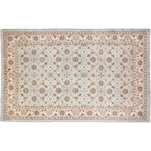 Leann Hand-Knotted Rectangle Blue Indoor Area Rug