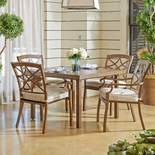 Trisha Yearwood Home Collection Outdoor 5 Piece Dining Set with Cushions