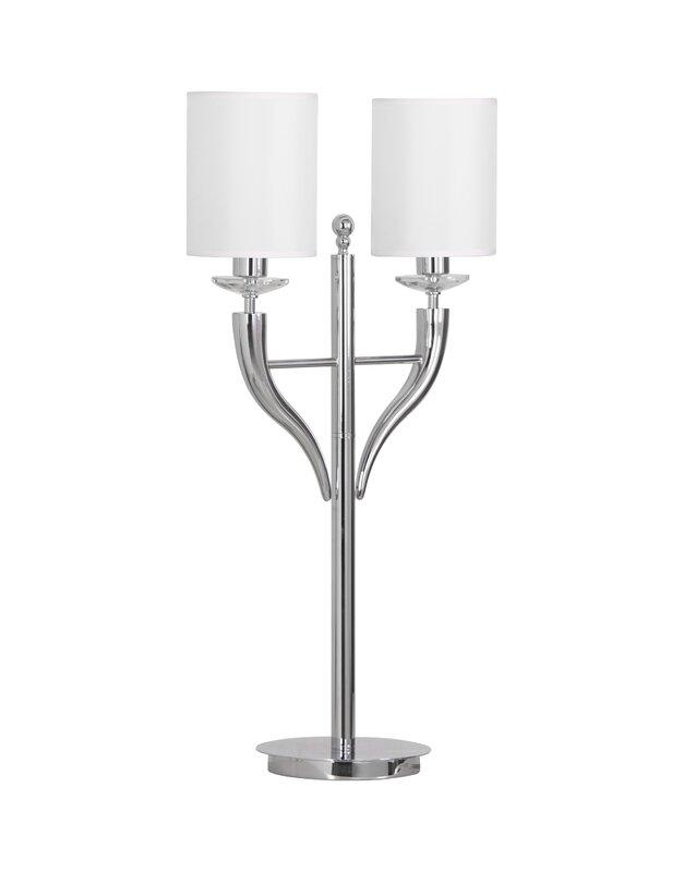 Rosdorf Park Didmarton 35'' Chrome Table Lamp