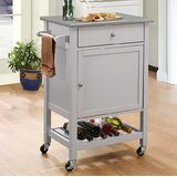 Kunkel Stainless Steel Wheeled Kitchen Cart by Alcott Hill®
