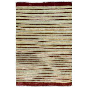 One-of-a-Kind  Roselyn Hand Woven Beige Area Rug