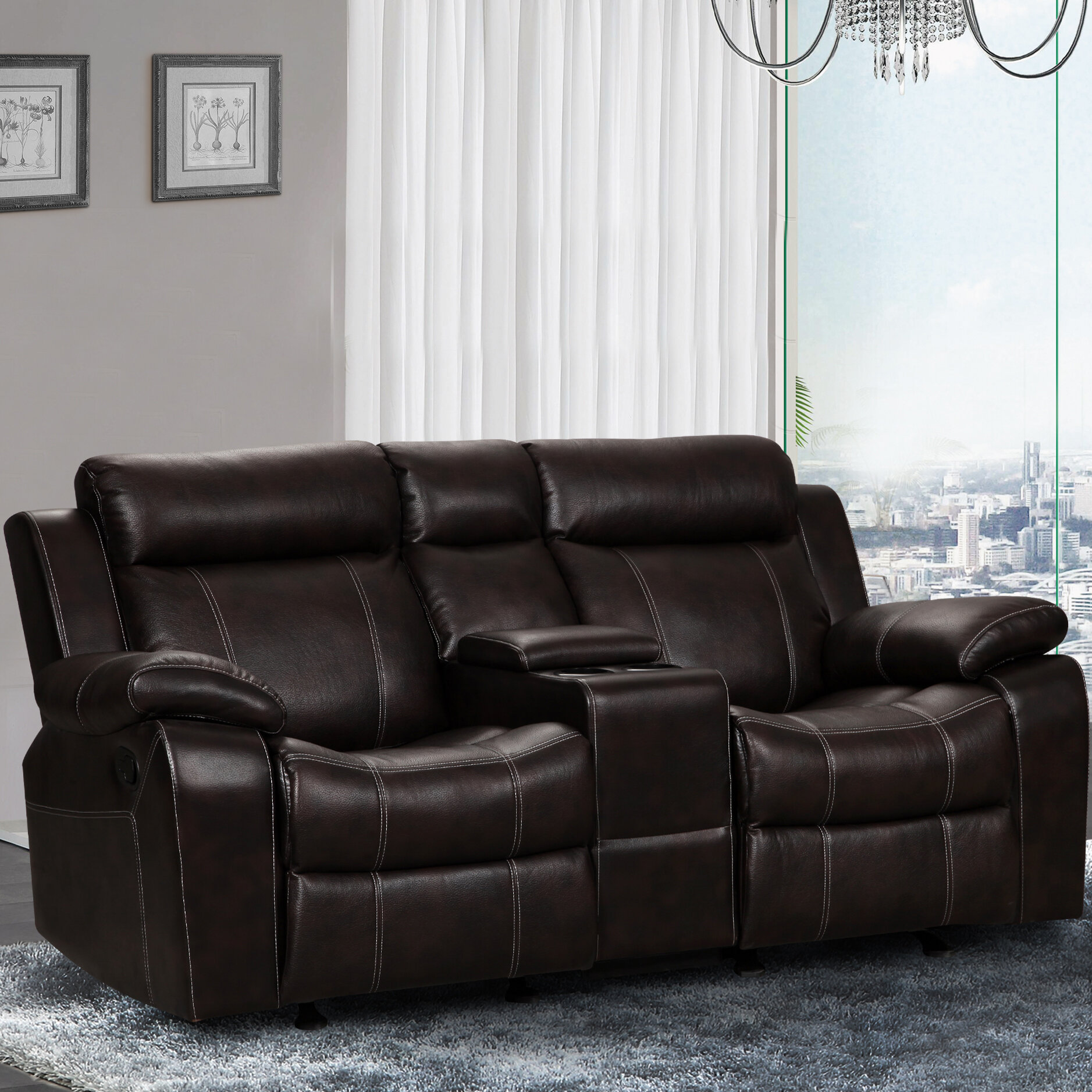 living in style gabrielle and gliding reclining loveseat reviews