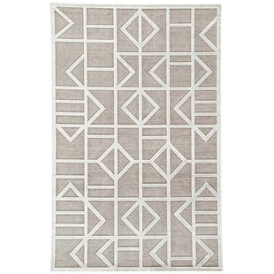 Reviews Lebo Power-Loomed Gray/White Area Rug By Mercury Row