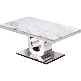 Everly Quinn Malvern Marble Coffee Table