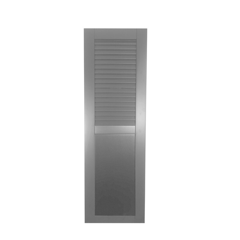 Shutters By Design Rockbridge Louver Flat Panel Combination Shutter Single Wayfair