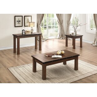 Loon Peak Dalewood 3 Piece Coffee Table Set