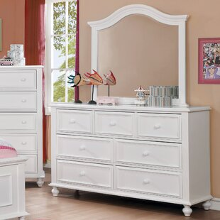 Eliot Traditional 7 Drawer Dresser with Mirror by Harriet Bee