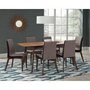 Earls 7 Piece Extendable Solid Wood Dining Set Corrigan Studio