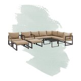 Abbate Outdoor Patio 10 Piece Sectional Seating Group with Cushions by AllModern