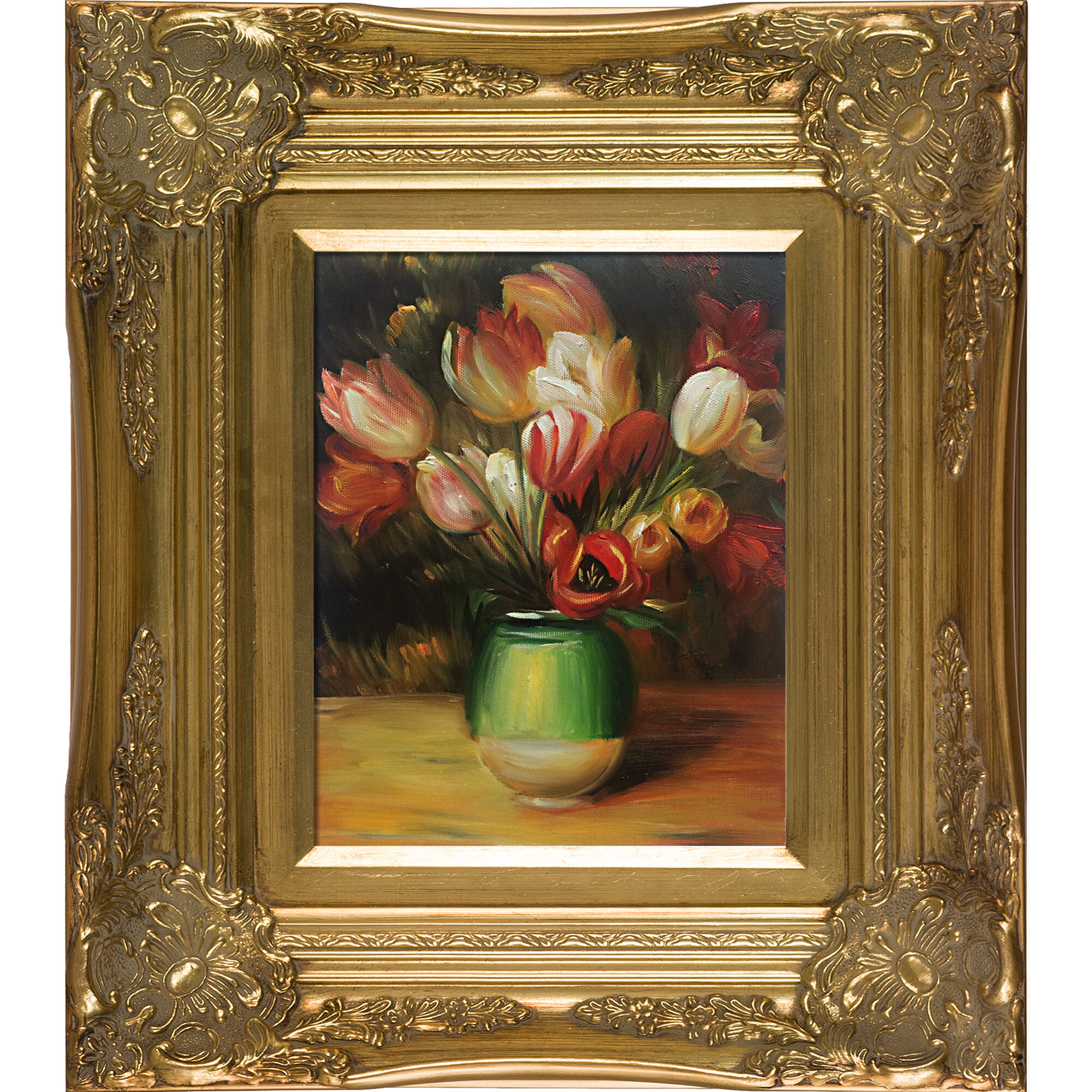 Tulips in a Vase by Pierre-Auguste Renoir Giclee Fine ArtPrint Repro on Canvas