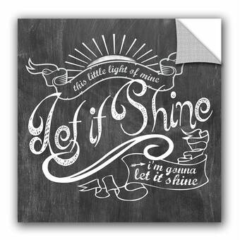 Artwall Longfellow Design Let It Shine Wall Decal Wayfair