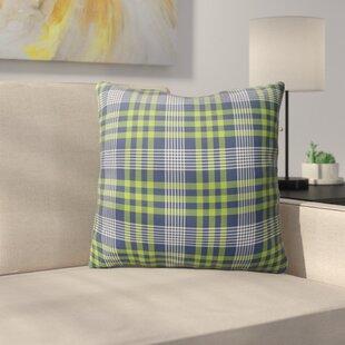 Zoelle Plaid Indoor/Outdoor Throw Pillow