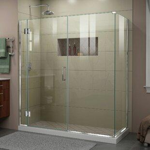 DreamLine Unidoor-X 63 1/2 in. W x 30 3/8 in. D x 72 in. H Frameless Hinged Shower Enclosure