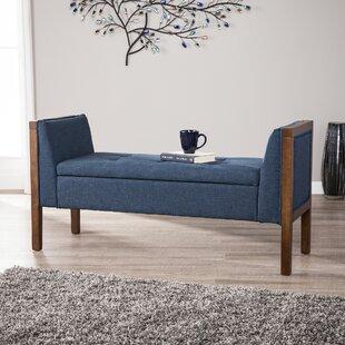Charlton Home Kegler Storage Upholstered Bench