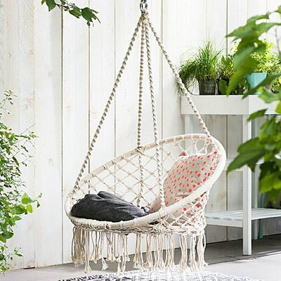 Dutra Macrame Chair Hammock by Bungalow Rose Sale